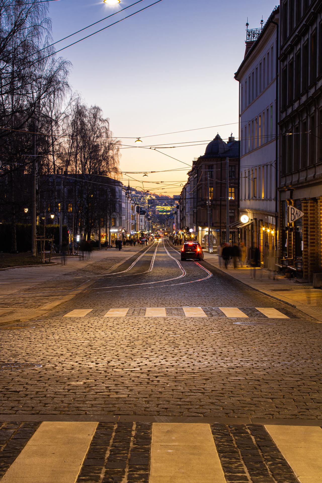 Tidlig solnedgang over Oslo